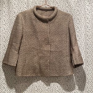 Akris Punto textured bouncle erased suit jacket